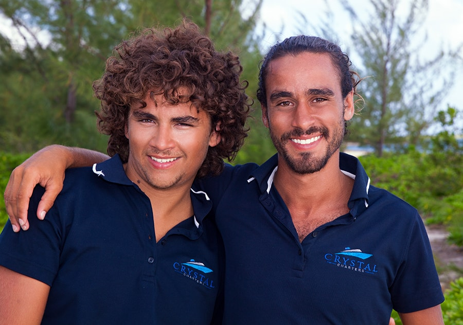 Canyon Leacock and Michael Leacock - crew of Crystal Charters Cayman